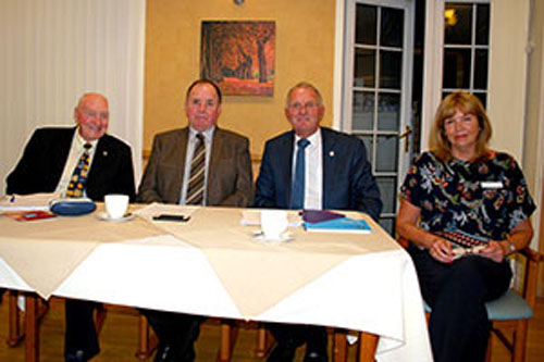 Pictured from left to right, are; Eric Hart MBE, Graham Chambers, Derek Midgley and Linda Johnson during the meeting.