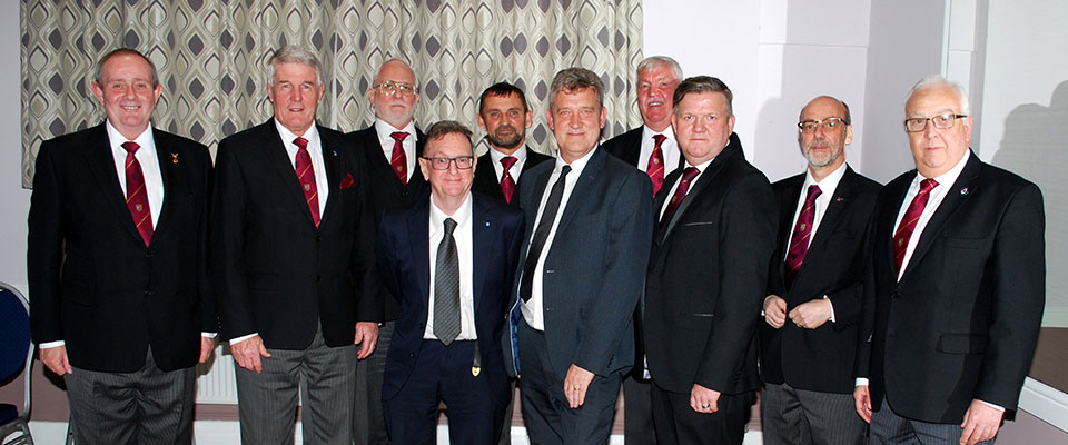 Pictured from left to right, front row are: Anthony Hall, Paul Renton, Roderick Green, Robert Hales, Leon Teasdale, David Case and Malcolm Alexander Back row: David Coulson, David Thomas and Barry Dearden