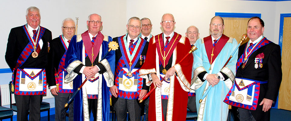 Pictured from left to right are; Barry Dearden, Malcolm Alexander, Stephen Oliver, Colin Jenkins, Arend van Duyvenbode (rear), John Roxburgh, Freddie Wright (rear), Roger Holt and Graham Chambers.