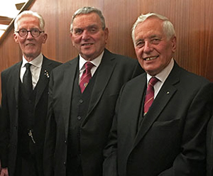 The three principals pictured from left to right, are: Peter Donnelly, David Poulter and Mel Johnson.