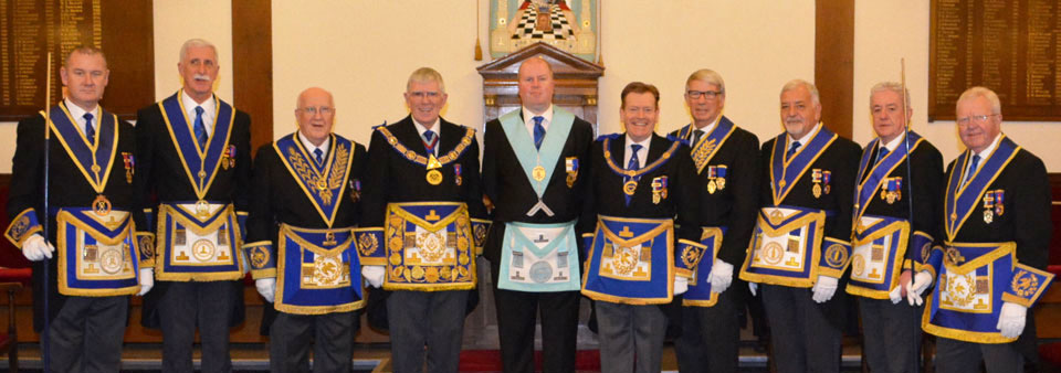 A very memorable day for Rob Roberts at the installation meeting of the Lodge of Charity No 2851.
