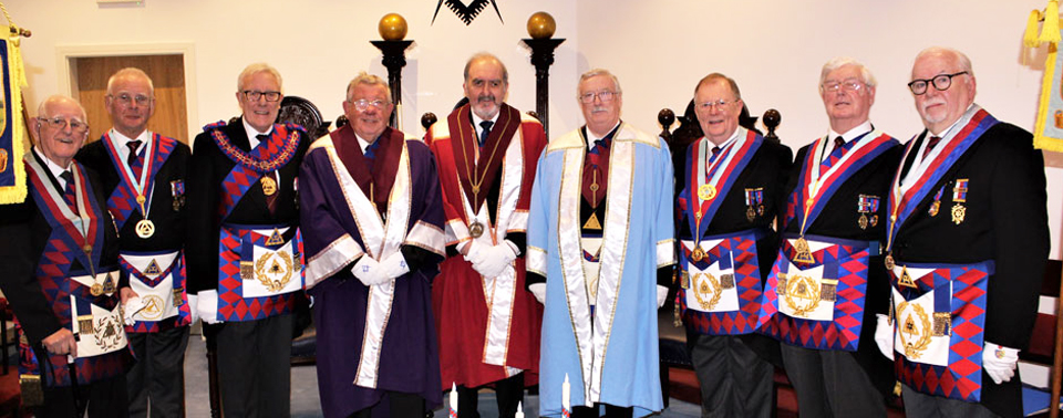 Pictured from left to right, are: Tony Johnson, Jim Hardman, Ian Higham, David Emmett, John Phillips, Charles Makinson, Colin Rowling, Brian Hayes and Mike Adams.