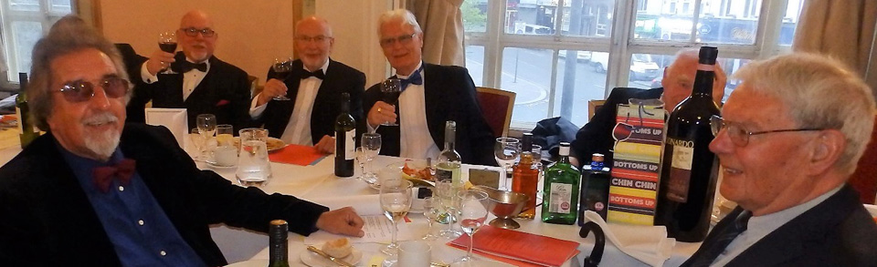 Pictured from left to right, are:  Ian Elsby, John James, Phil Marshall, Brian Wake (forefront) and Tom Bass.