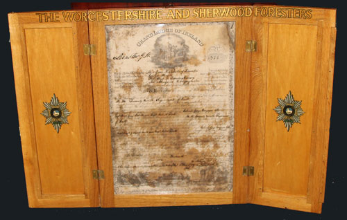 lodge Glittering Star warrant dated 1759.