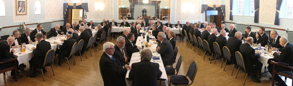 The brethren enjoying the festive board.