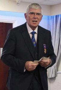 Tony Harrison giving his speech.