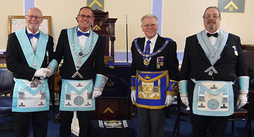Pictured from left to right, are: Tony Lea, John Lea, Derek Parkinson and Michael Shakespeare.