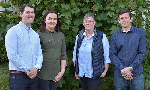 Pictured from left to right, are; Dan Greaves, Ellyse Rochford, Lynne Dingle and Allan Ritchie.