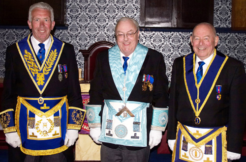 Pictured from left to right, are; Mark Matthews, Paul Baines and Hughie O'Neil