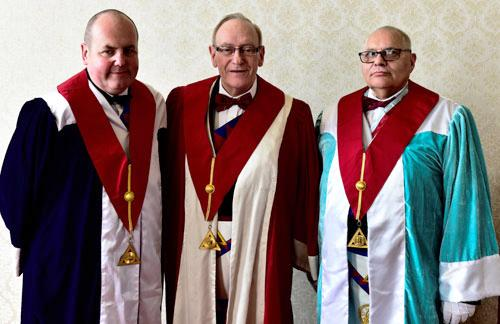 Pictured from left to right, are: David Ingham, James Carmichael-Prince and Roy Grime.