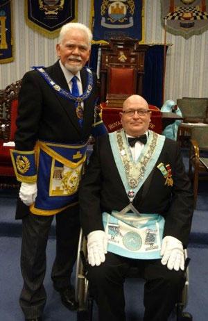 Pictured are David Randerson (left) and Joe O'Brien.