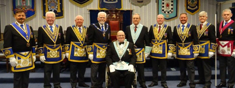 Pictured left to right, are: Steve Barnes, Keith Jackson, Harry Cox, David Randerson, Joe O'Brien, Gordon Hinchliffe, Duncan Smith, Neil MacSymons, Ian Ward and Terry Murtagh.