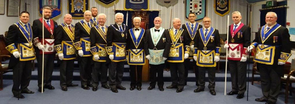 Pictured from left to right, are: Brian Woodburn, Allan Shields, Duncan Smith, Peter Greathead, Stuart Alcock-Williams, Keith Jackson, David Randerson, Bob Abbott-Hull, John England, Harry Cox, Gavin Egan, David Parker, Terry Murtagh and Gary Smith.