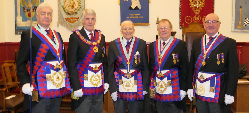 Pictured from left to right, are: Barrie Crossley, Paul Renton, Tony Tallon, Colin Rowling and Neil Pedder.