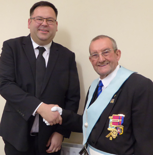 Pictured from left to right, are: Scott Traynor with his proposer Doug Holgate