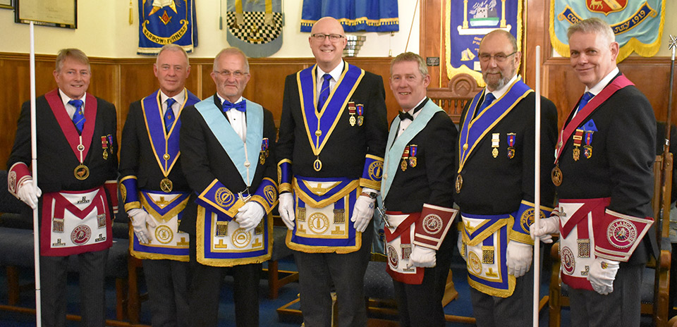 Pictured from left to right, are: David Ingham, Alan Hilton, Dennis Laird, Gary Rogerson, Chris Gray, Terry Ridal and Terry Murtagh.
