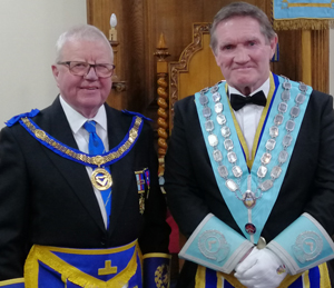 Keith Kemp (left) with Jim Hamilton.