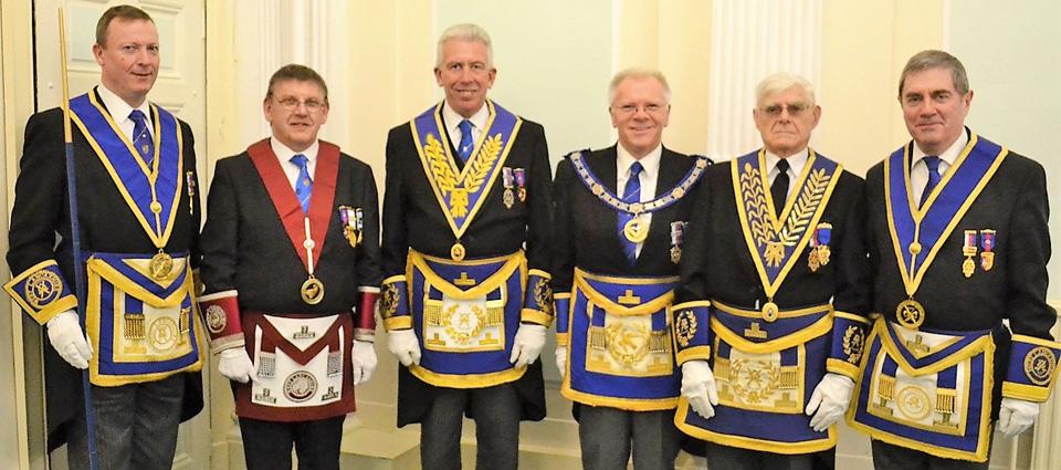 Pictured from left to right, are: Jason Dell, John Shaw, Mark Matthews, Derek Parkinson, Tom Lovatt and Tony Fennell.