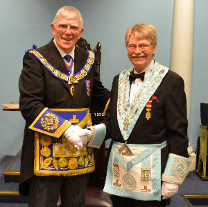 With Clive Butterworth at Lever Park Lodge installation meeting.