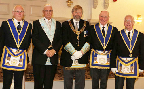 Pictured from left to right, are: Vic Charlesworth, Hugh Selby, John Clarke, Alan Bristow and David Spear.