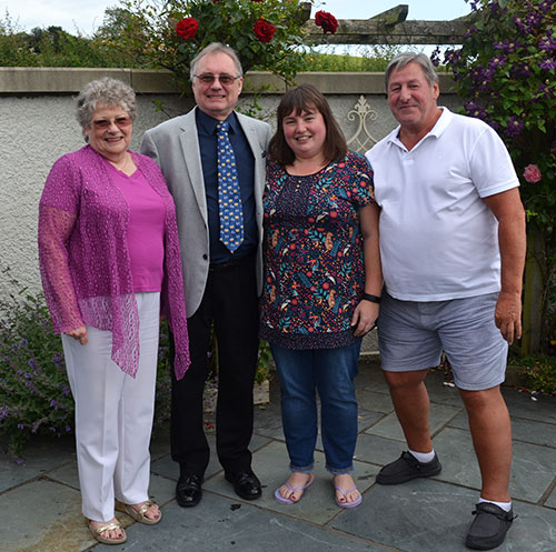 Pictured from left to right, are; Angela Seed, Paul Taylor, Laura Aimson and Neil McGill.