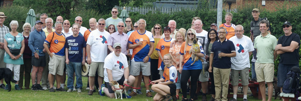 Some of the Wigan walkers at the starting point, poised for action and ready to go.
