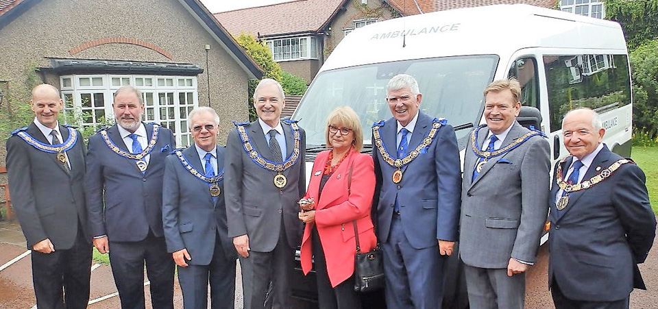 Pictured from left to right, are: Jeff Cunningham, Frank Umbers, Derek Parkinson, Stephen Blank, Sylvia Short, Tony Harrison, Kevin Poynton and Keith Beardmore.