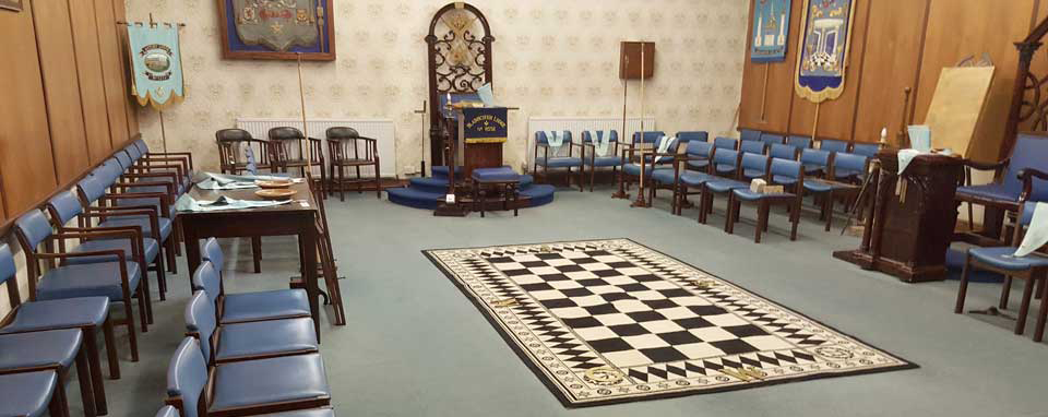 The main lodge room ready for visitors.