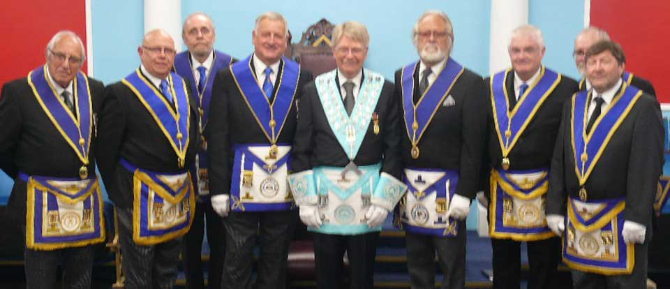 Clive Butterworth, is pictured with a some of the joining members.