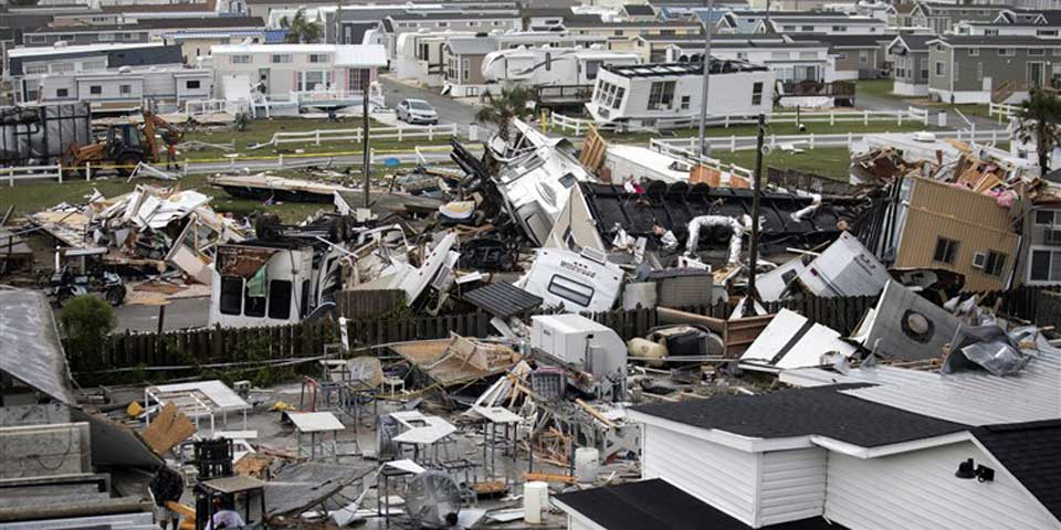 Some of the devastation following the hurricane.