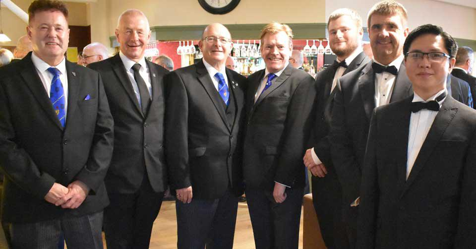 Pictured from left to right, are: Peter Schofield, Tom Shankland, Peter While, Kevin Poynton, Levi Gill, Gary Gibson and junior lodge member David Pimentel.