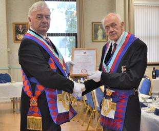 Tom celebrates 50 years in Heysham Chapter