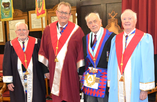 Pictured from left to right, are: Keith Dorrington, Ken Needham, Tom Holroyd and Raymond Griffiths