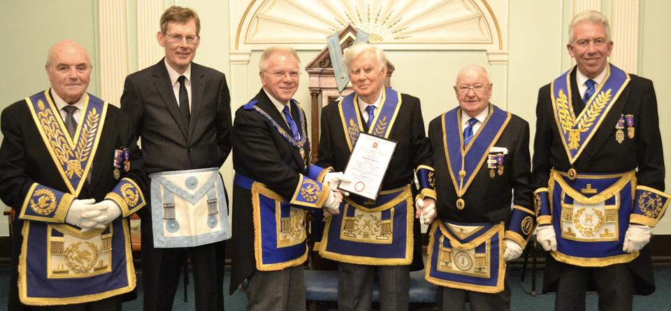 Pictured from left to right, are: Clive Jefferies, Michael Gerrard, Derek Parkinson, Alec Gerrard, Bill Shucker and Mark Matthews