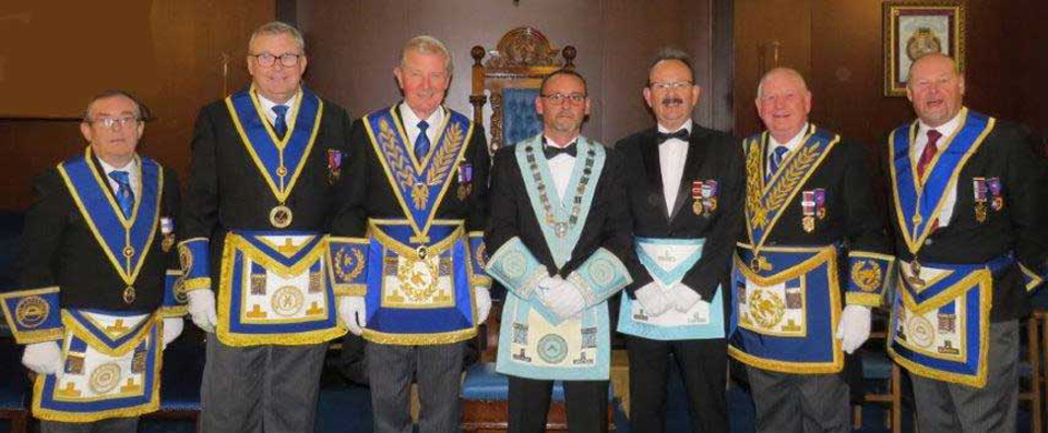 Pictured from left to right are: Mike Brown, Jim Gregson, Stuart Thornber, Stuart De Core, Paul Smedley, Harry Cox and John Cross.
