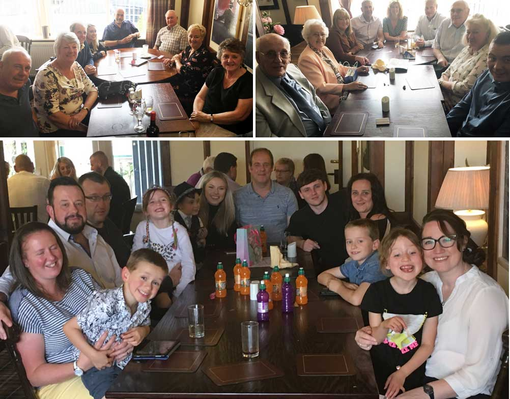 The brethren, wives, partners and children who attended the Sunday lunch.