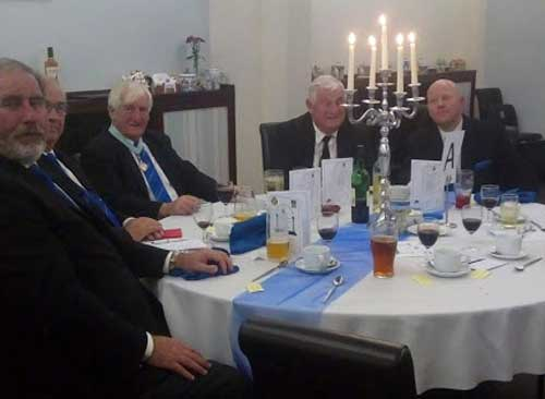 Pictured from left to right are: Frank Umbers, Philip Gunning, John Wallbank, John Rawcliffe and Malcolm Bell