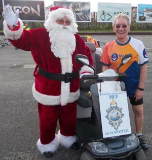 Don Carton (left) dressed in his Father Christmas outfit and Malcolm Sandywell.