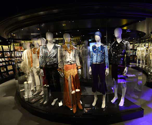 Costumes on display at the ABBA Museum.