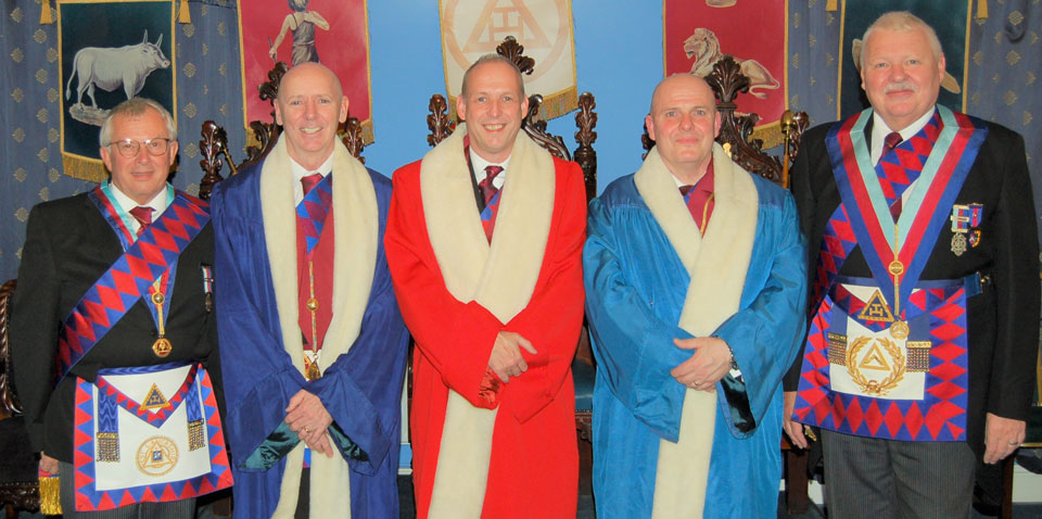 Pictured from left to right, are: Mike Cunliffe, Ian McGovern, Michael Fox, Alan Routledge and Paul Shepherd.