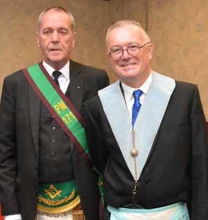 Norrie Austin (left) and Andrew Prescott