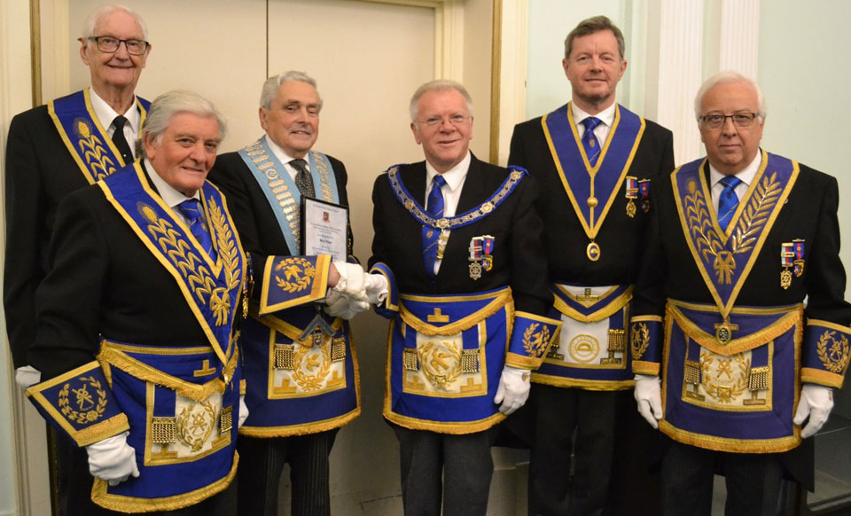 Pictured from left to right, are: Fred Hunter, Ernie Waite, Barry Elman, Derek Parkinson, Dave Kemp and Malcolm Alexander