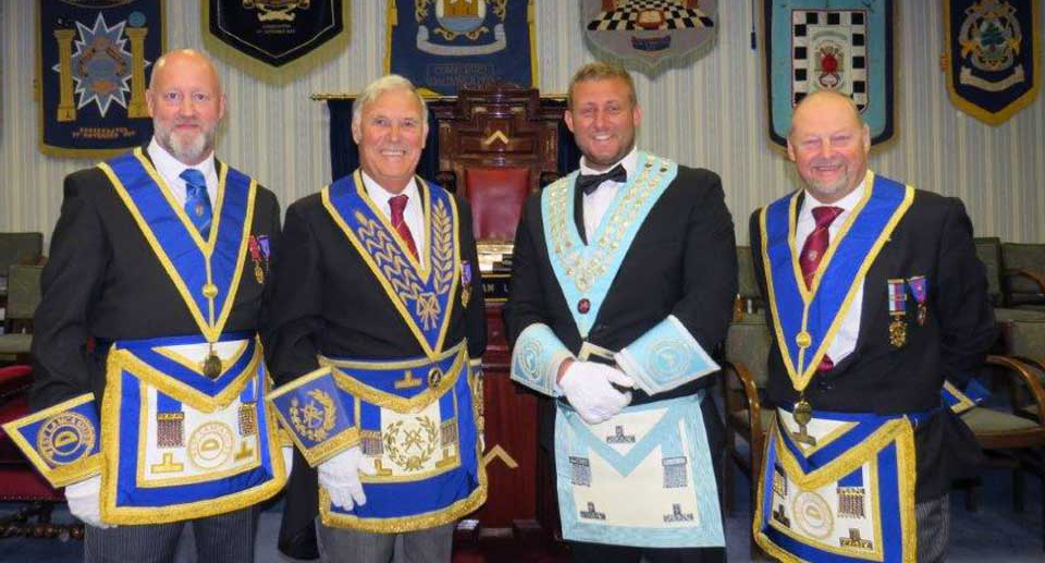 Pictured from left to right, are: Tony Farrar, Roger Perry, Kirk Elliot and John Cross.