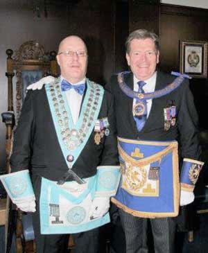 Peter Dunn WM (left) and Kevin Poynton.