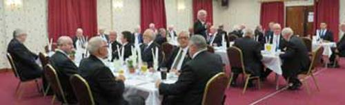 Brethren enjoying the festive board meal.