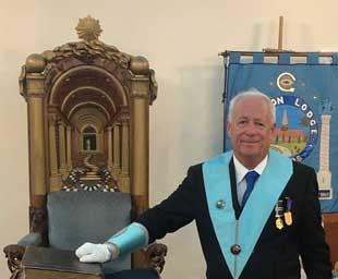 Stewart becomes WM of Aughton Lodge