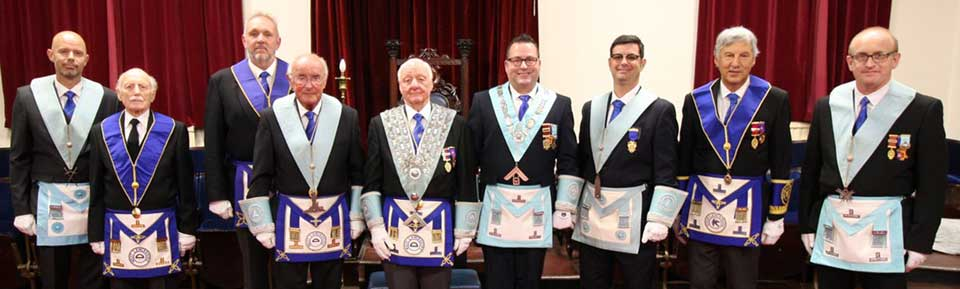 Officers and brethren of the lodge.