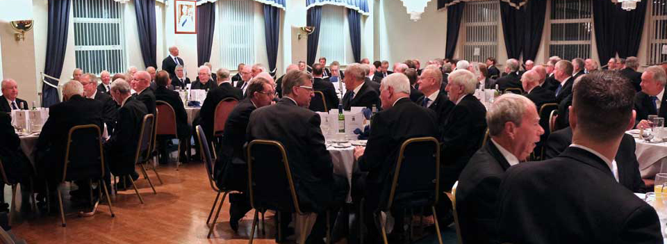 Some of the 120 diners enjoying the festive board.
