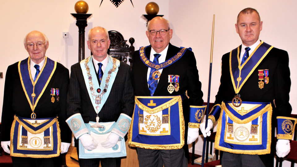 Pictured from left to right, are: Roy Domville, Paul Domville, Phillip Gunning and Ian Halsall.