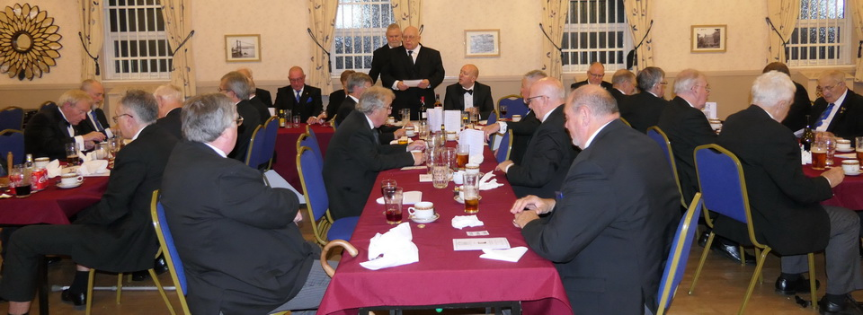 A lot of toasts and wine-taking at the festive board.